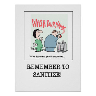 Nursing Poster B - Remember to Sanitize!