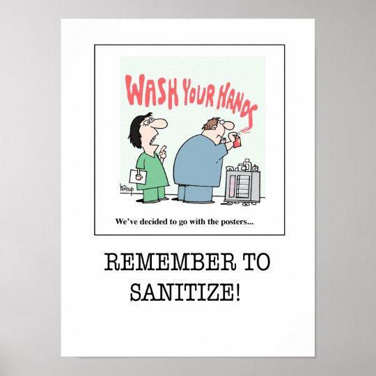 Nursing Poster B - Remember to Sanitize!