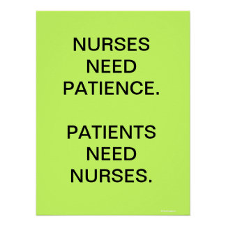 Nursing Poster Sign - Motivational Humorous