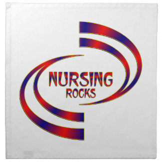 Nursing Rocks Napkin