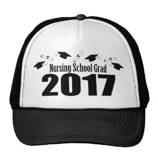 Nursing School Grad 2017 Caps And Diplomas (Black) Trucker Hat