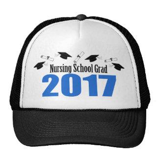 Nursing School Grad 2017 Caps And Diplomas (Blue) Trucker Hat