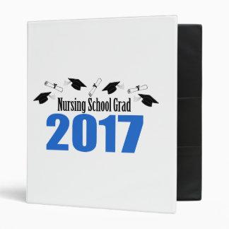 Nursing School Grad 2017 Caps And Diplomas (Blue) Vinyl Binder