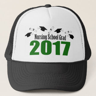 Nursing School Grad 2017 Caps And Diplomas (Green)