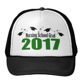 Nursing School Grad 2017 Caps And Diplomas (Green) Trucker Hat