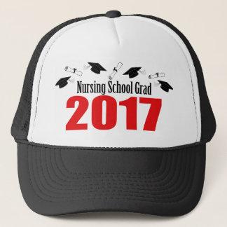 Nursing School Grad 2017 Caps And Diplomas (Red)