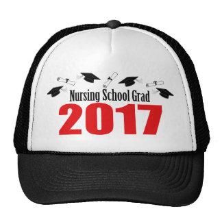 Nursing School Grad 2017 Caps And Diplomas (Red) Trucker Hat