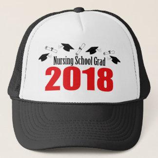 Nursing School Grad 2018 Caps And Diplomas (Red)