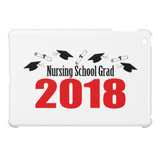 Nursing School Grad 2018 Caps And Diplomas (Red) iPad Mini Cover