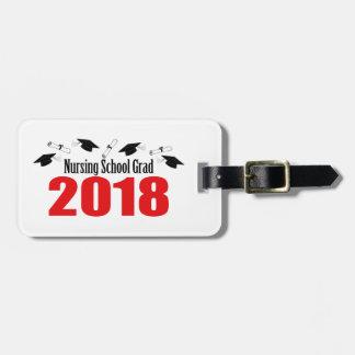 Nursing School Grad 2018 Caps And Diplomas (Red) Luggage Tag
