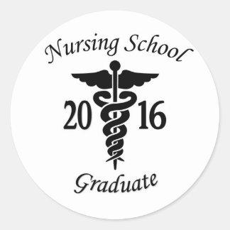 Nursing School Graduate Classic Round Sticker