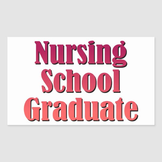 Nursing School Graduate Sticker