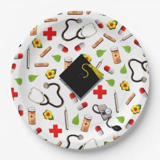 Nursing School Graduation 9 Inch Paper Plate