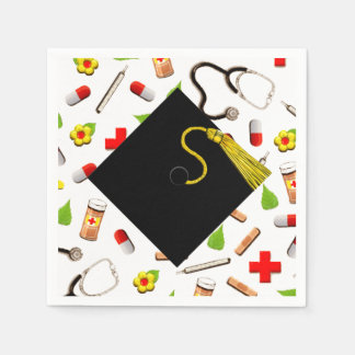 Nursing School Graduation Disposable Napkin