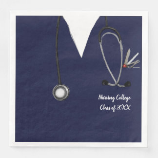 nursing school graduation paper napkin