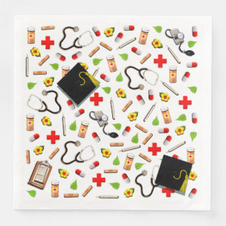 Nursing School Graduation Paper Napkins