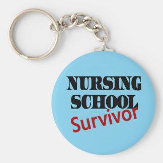 Nursing School Survivor Keychain