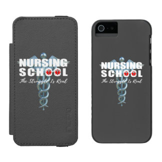 Nursing School The Struggle Is Real Incipio Watson™ iPhone 5 Wallet Case