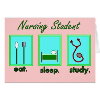 nursing student eat sleep study cards