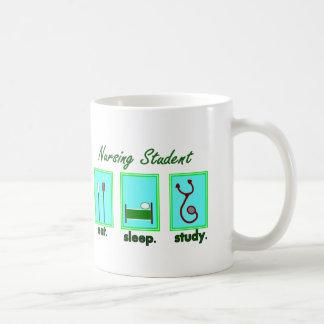 nursing student eat sleep study classic white coffee mug