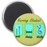 nursing student eat sleep study fridge magnet
