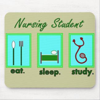 nursing student eat sleep study mouse pads