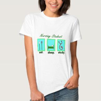 nursing student eat sleep study tshirts