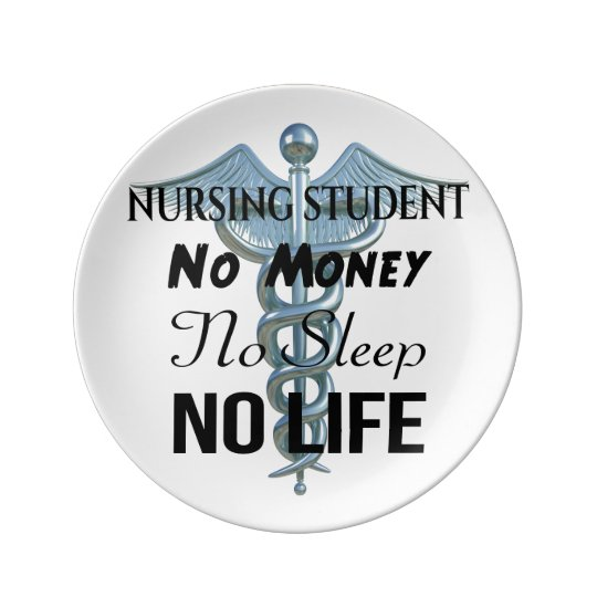 Nursing Student Funny Nurse Quote Plate