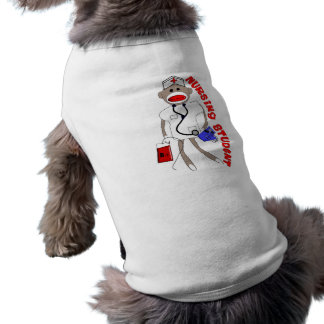 Nursing Student Sock Monkey Gifts Doggie T Shirt