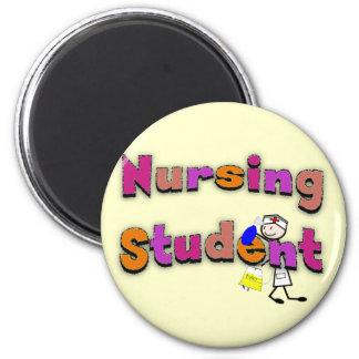 Nursing Student Watercolor Art Stick Person Nurse 2 Inch Round Magnet