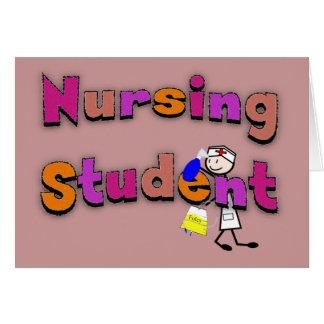 Nursing Student Watercolor Art Stick Person Nurse Greeting Card