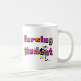 Nursing Student Watercolor Art Stick Person Nurse Coffee Mugs