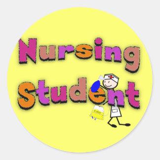 Nursing Student Watercolor Art Stick Person Nurse Sticker