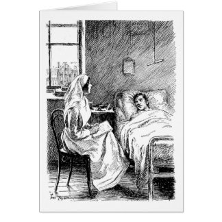 Nursing the Sick, Greeting Card