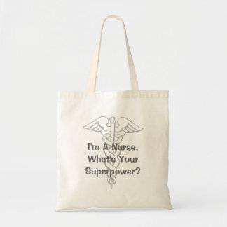 Nursing tote bag with fun quote for RN super nurse