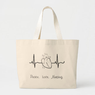 Nursing Tote with EKG and Heart
