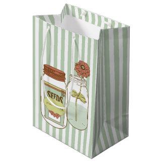 Nurture mason jar and flower giftbag medium gift bag