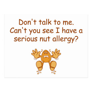 Nut Allergy Postcard