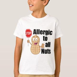 Nut Allergy Tshirt