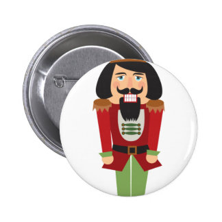 Nutcracker 2 Inch Round Button