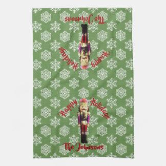 Nutcracker and Snowflakes Christmas Kitchen Towel