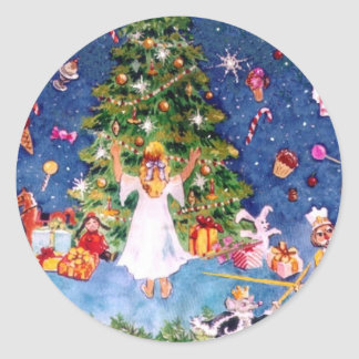 Nutcracker and The Tree Classic Round Sticker
