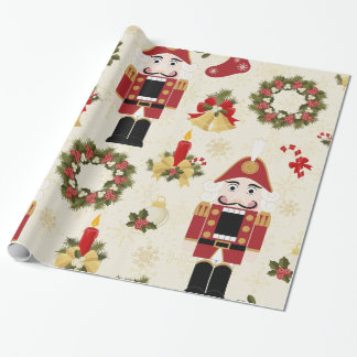 Nutcracker and Wreath Wrapping Paper