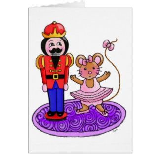 Nutcracker Ballerina Greeting Card