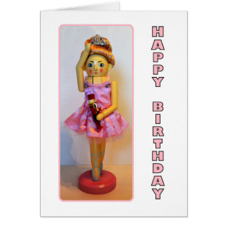 Nutcracker Ballerina Happy Birthday Card