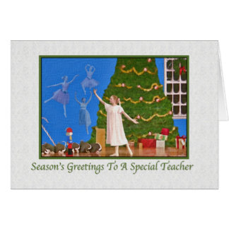 Nutcracker Ballet Christmas Card for Teacher