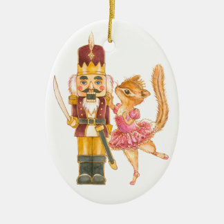 Nutcracker Ballet Oval Ornament