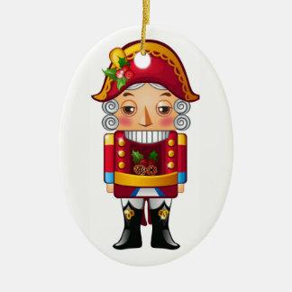 Nutcracker Ceramic Ornament