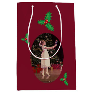 Nutcracker Christmas Ballet Medium Gift Bag