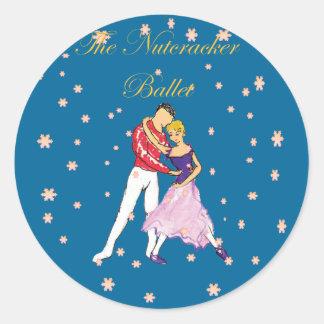 nutcracker-clara & her prince classic round sticker